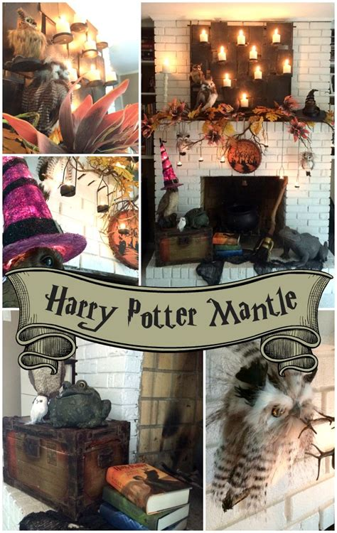 A Harry Potter Inspired Mantle | Harry potter decor, Harry